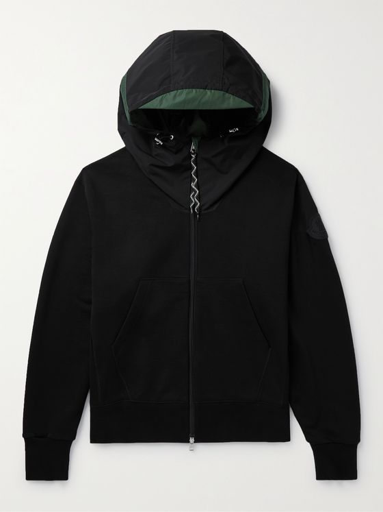 MONCLER Oversized Cotton and Nylon Hoodie