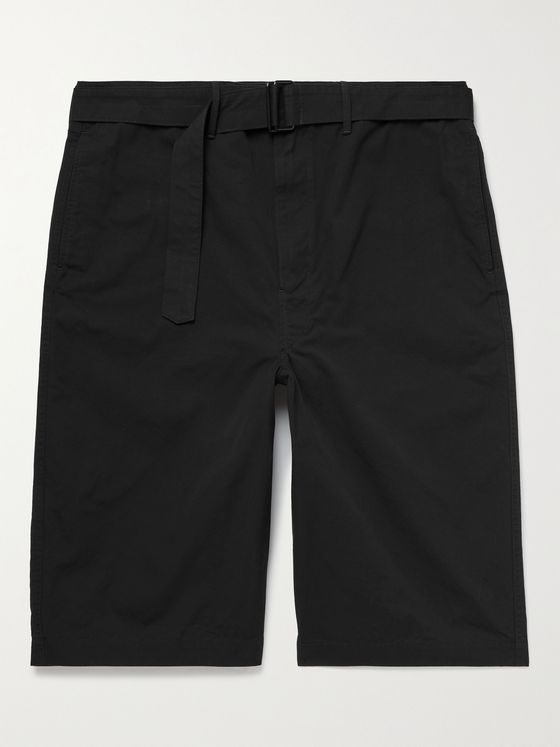 LEMAIRE Belted Cotton-Canvas Shorts