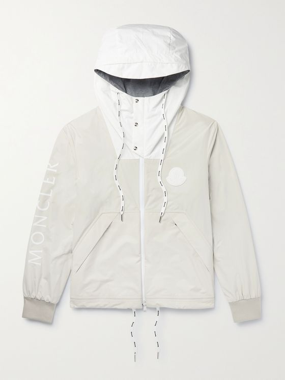 MONCLER Chabat Reversible Logo-Print Shell Hooded Jacket