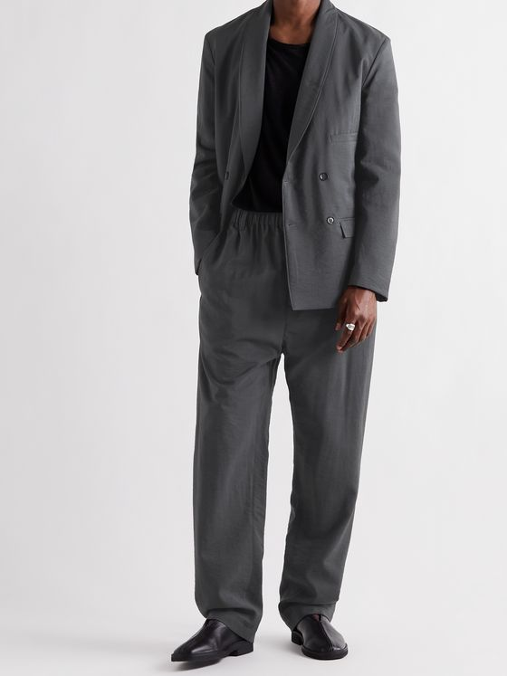 LEMAIRE Pleated Virgin Wool-Blend Suit Trousers