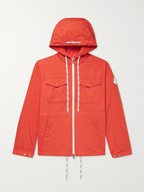 MONCLER Carion Logo-Appliquéd Cotton-Blend Shell Hooded Jacket