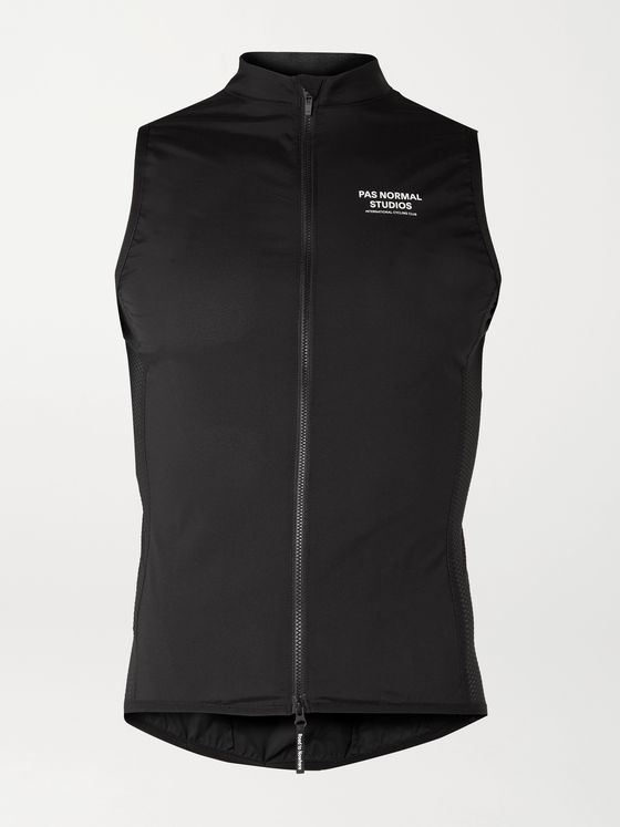 PAS NORMAL STUDIOS Stow Away Logo-Print Mesh-Panelled Cycling Gilet