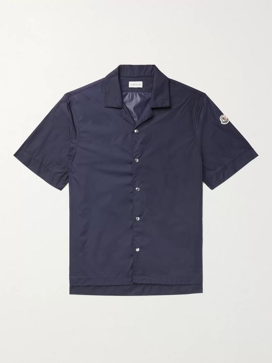 MONCLER 2 Moncler 1952 Camp-Collar Logo-Appliquéd Nylon Shirt