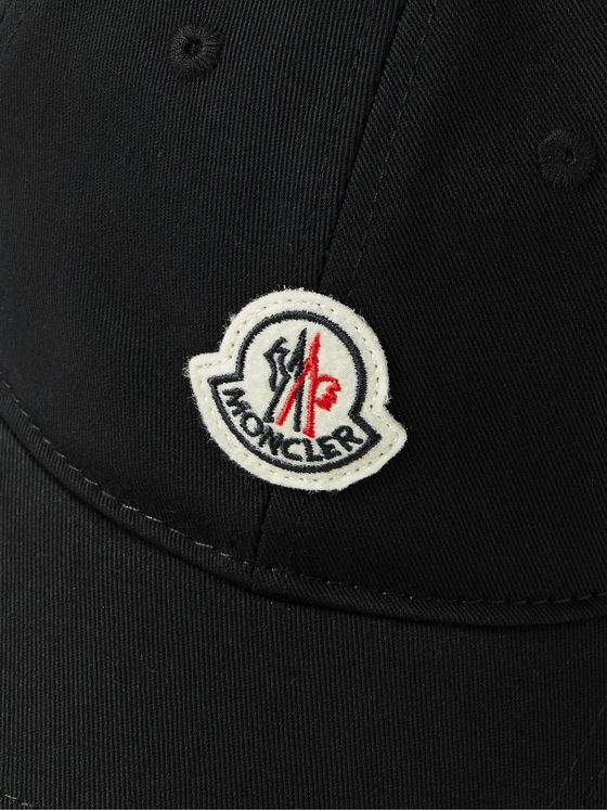 MONCLER Logo-Appliquéd Cotton-Twill Baseball Cap