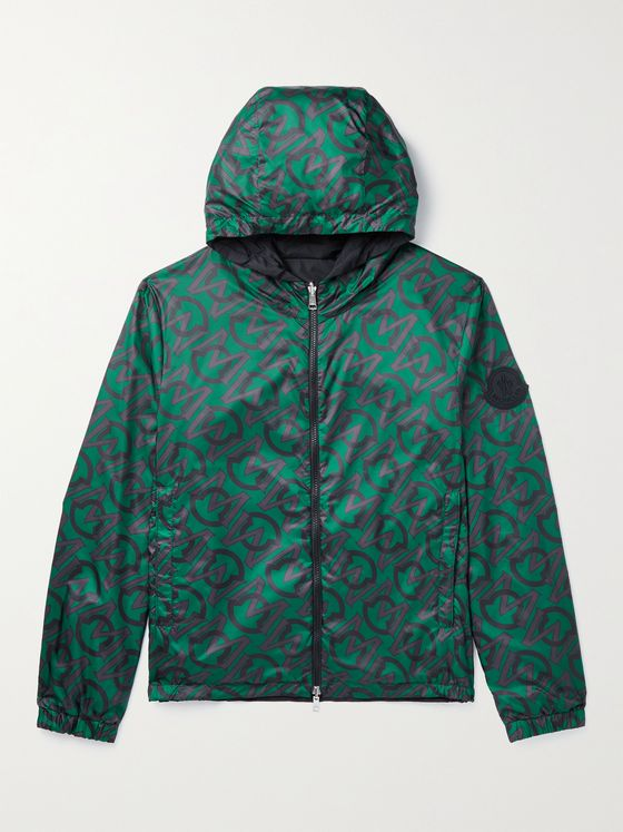 MONCLER Cretes Reversible Monogrammed Shell Hooded Jacket