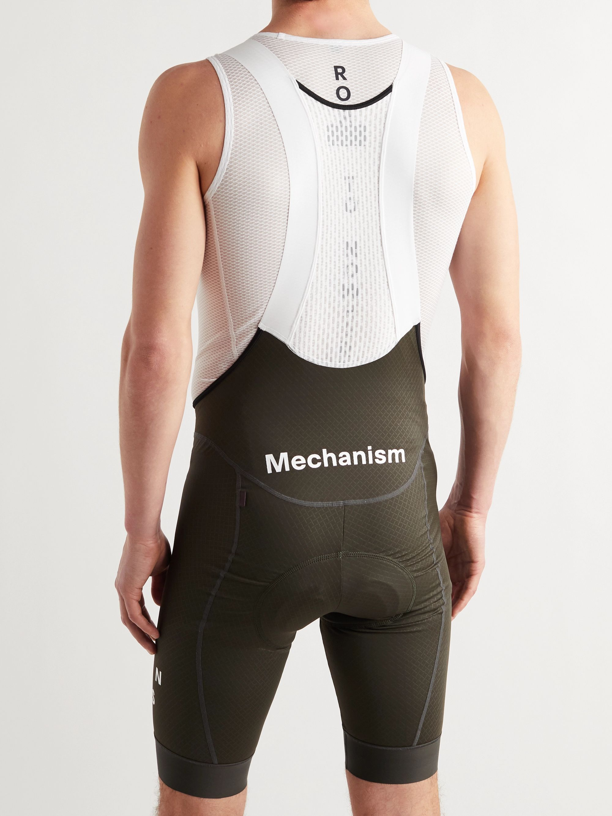 PAS NORMAL STUDIOS Mechanism Mesh-Panelled Stretch-Jersey Cycling Bib Shorts