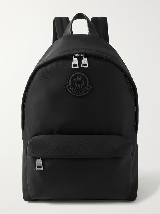 MONCLER Pierrick Logo-Appliquéd Leather-Trimmed Nylon Backpack