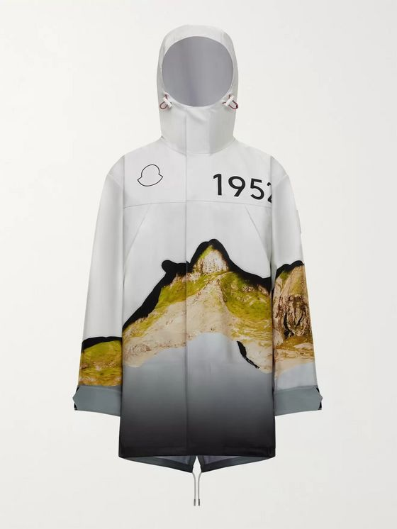 Moncler Genius 2 Moncler 1952 Hooded Printed Cotton-Shell Parka