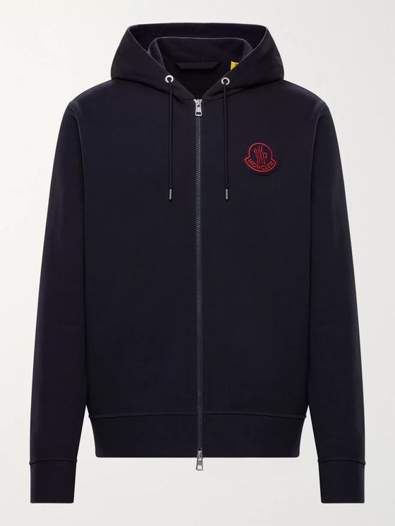 MONCLER GENIUS 2 Moncler 1952 Logo-Appliquéd Cotton-Jersey Zip-Up Hoodie
