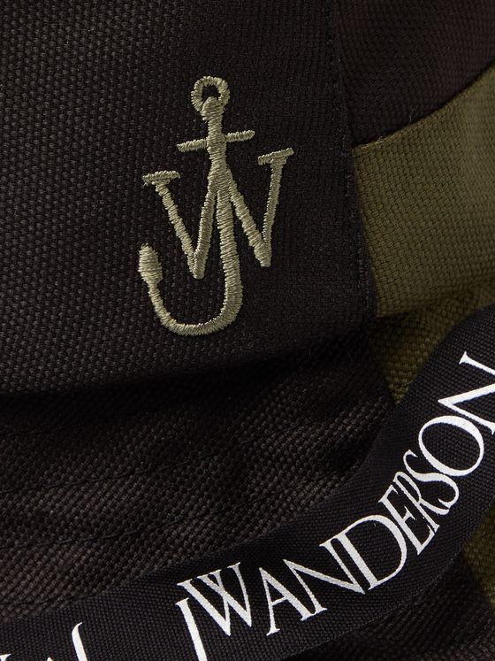 JW ANDERSON Asymmetric Logo-Embroidered Canvas Bucket Hat