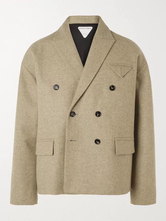 BOTTEGA VENETA Double-Breasted Wool-Blend Suit Jacket