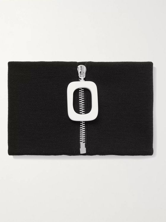 JW ANDERSON Wool Zip-Up Snood