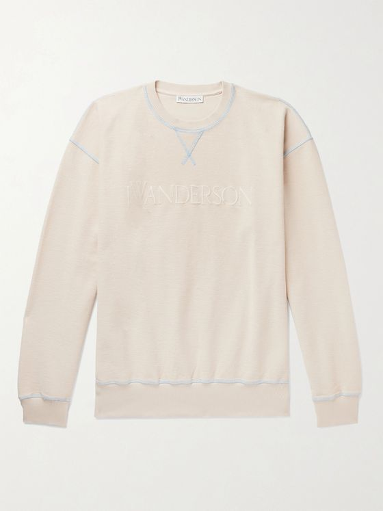 JW ANDERSON Logo-Embroidered Loopback Cotton-Jersey Sweatshirt