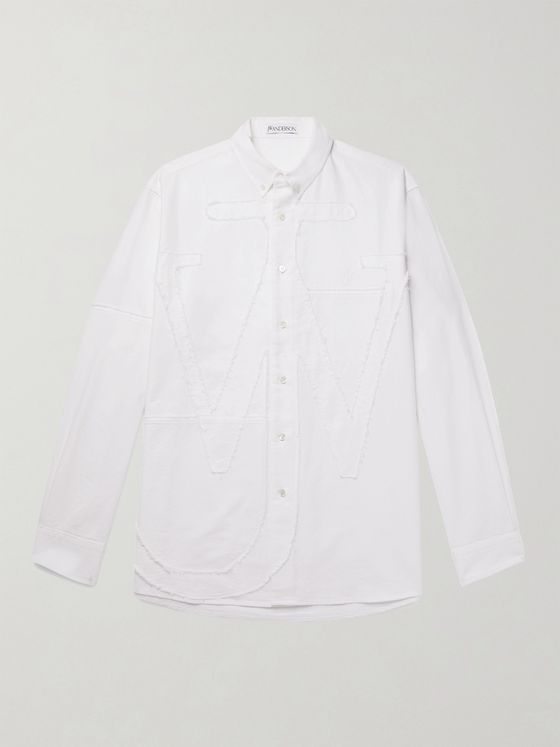 JW ANDERSON Logo-Appliquéd Cotton Oxford Shirt