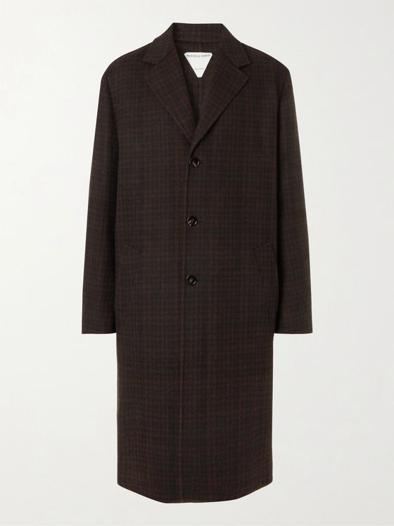 BOTTEGA VENETA Oversized Checked Double-Faced Wool-Blend Coat