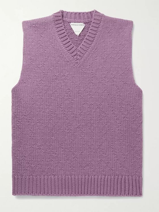 BOTTEGA VENETA Wool and Cashmere-Blend Sweater Vest