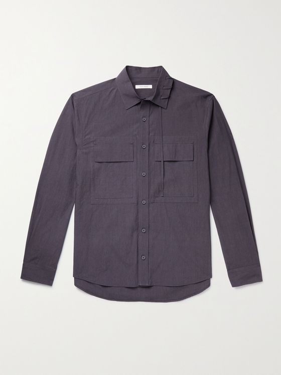 CRAIG GREEN Lace-Detailed Cotton Shirt