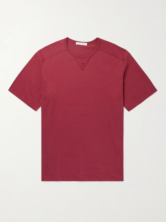 CRAIG GREEN Embroidered Cotton and Silk-Blend T-Shirt