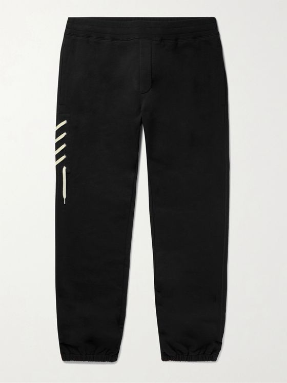 CRAIG GREEN Tapered Lace-Detailed Cotton-Jersey Sweatpants
