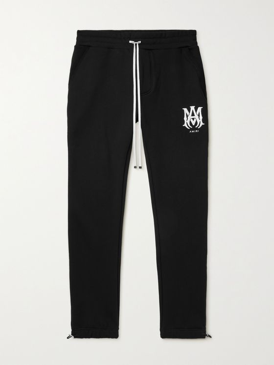 AMIRI Slim-Fit Tapered Logo-Embroidered Cotton-Jersey Sweatpants
