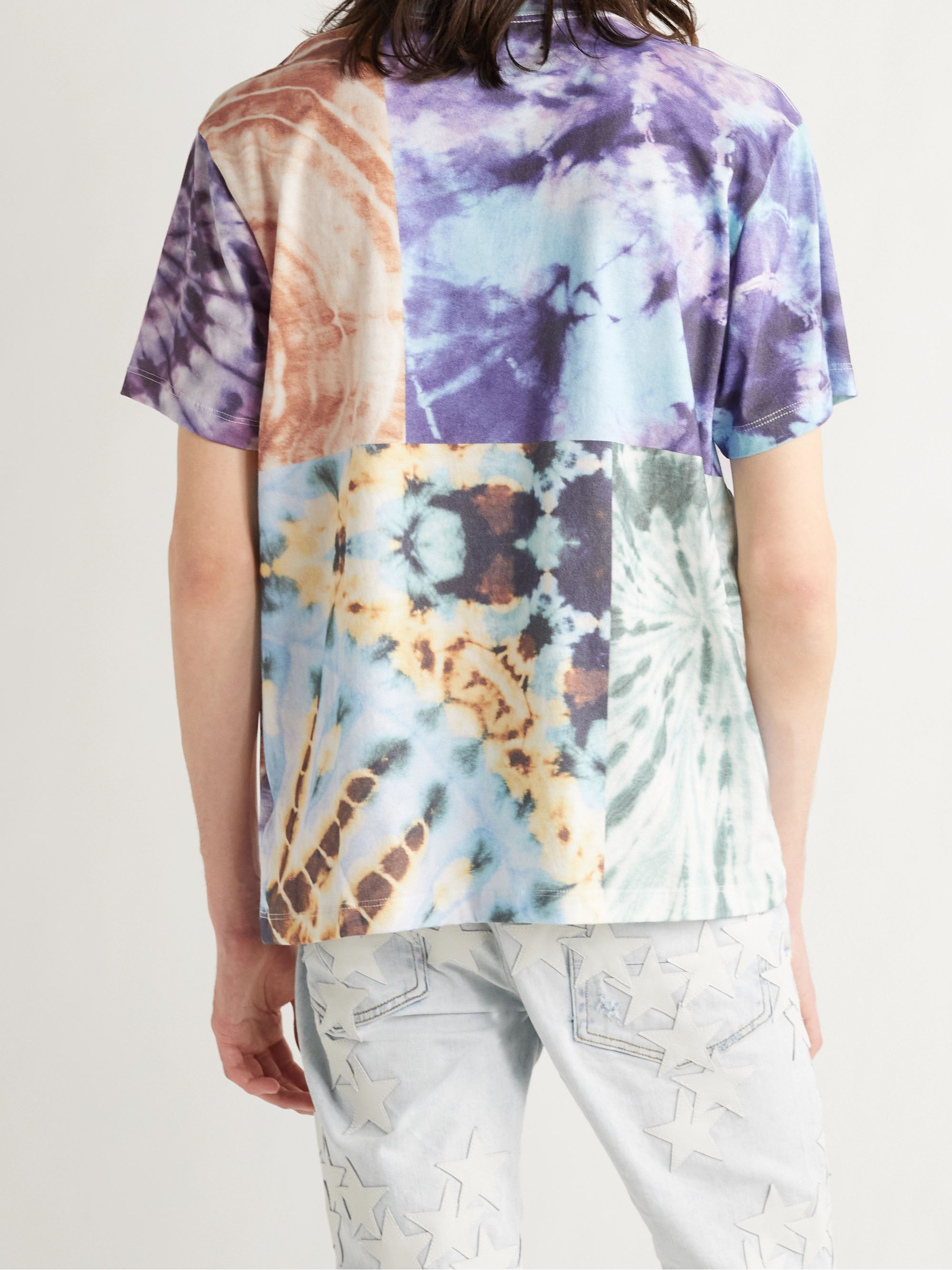 AMIRI Patchwork Tie-Dyed Cotton-Jersey T-Shirt