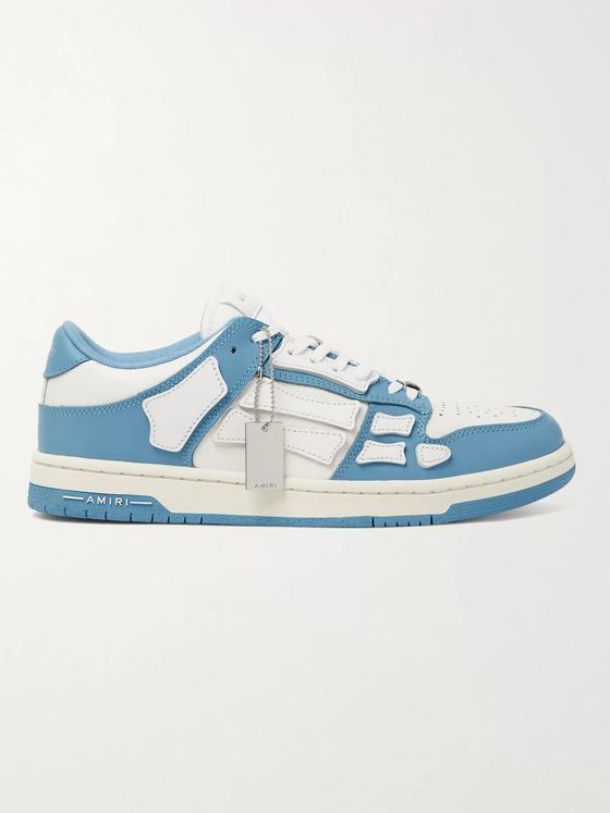 AMIRI Skel-Top Colour-Block Leather Sneakers