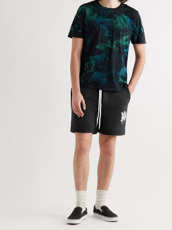 AMIRI Logo-Embroidered Cotton-Jersey Drawstring Shorts