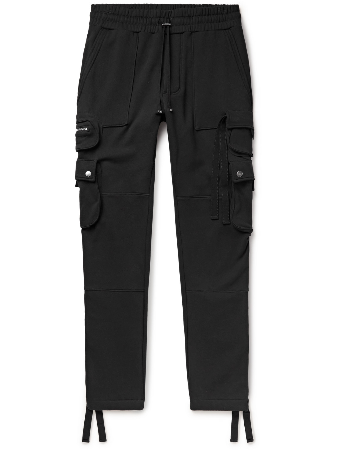Slim-Fit Tapered Loopback Cotton-Jersey Cargo Sweatpants
