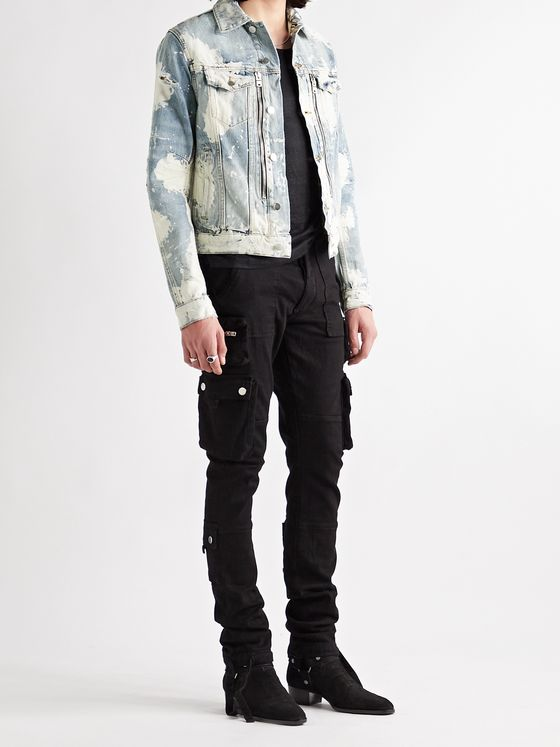 AMIRI MX2 Bleached Denim Jacket