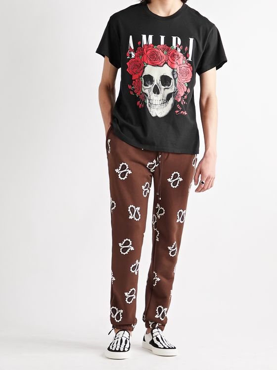 AMIRI + Grateful Dead Printed Cotton-Jersey T-Shirt