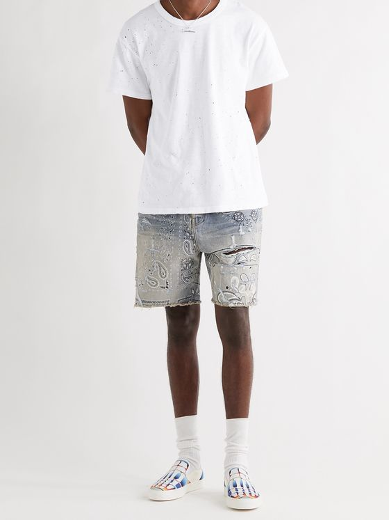 AMIRI Distressed Cotton-Jersey T-Shirt
