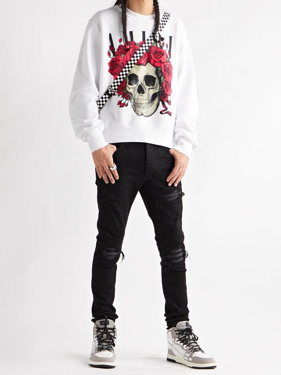 AMIRI + Grateful Dead Printed Loopback Cotton-Jersey Sweatshirt
