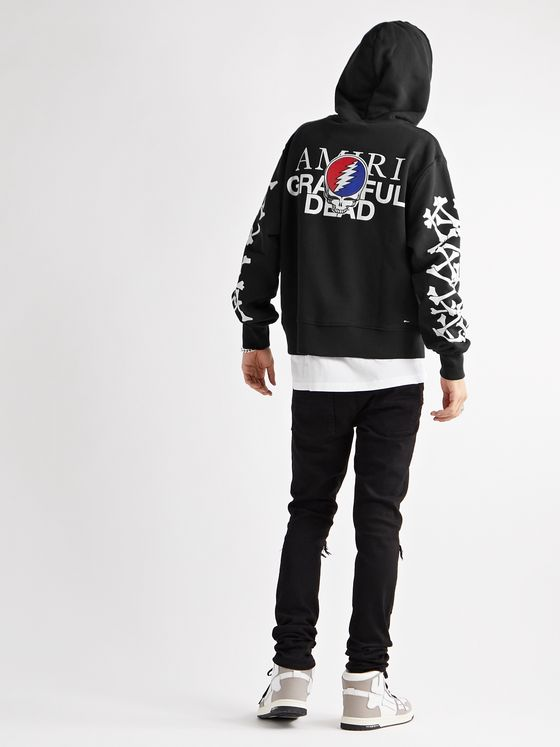 AMIRI + Grateful Dead Printed Loopback Cotton-Jersey Hoodie
