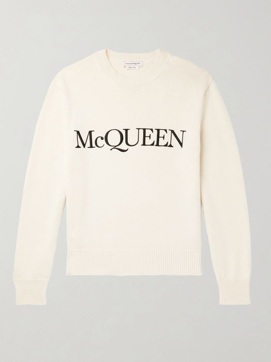 ALEXANDER MCQUEEN Logo-Embroidered Cotton Sweater