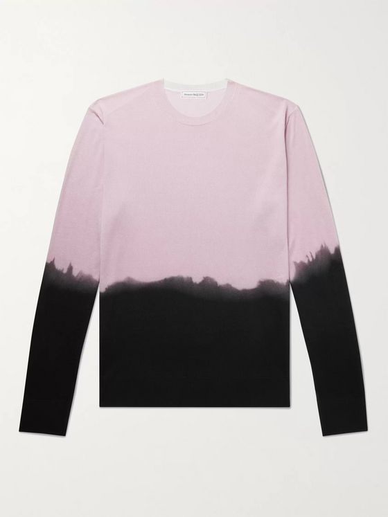 ALEXANDER MCQUEEN Slim-Fit Dip-Dyed Silk Sweater
