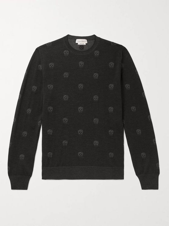 ALEXANDER MCQUEEN Slim-Fit Intarsia Wool Sweater
