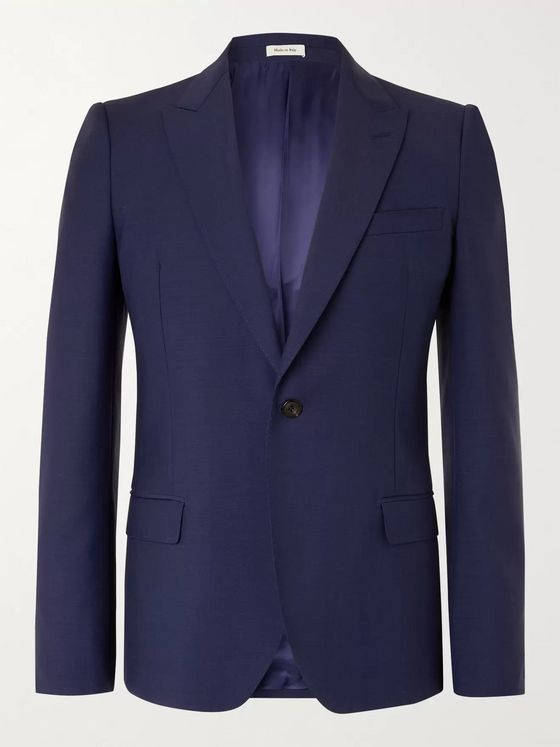 ALEXANDER MCQUEEN Slim-Fit Wool and Mohair-Blend Suit Jacket