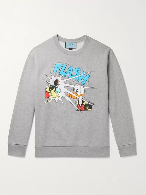 GUCCI + Disney Printed Loopback Cotton-Jersey Sweatshirt