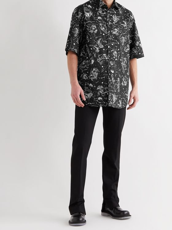 VALENTINO Oversized Printed Cotton Shirt
