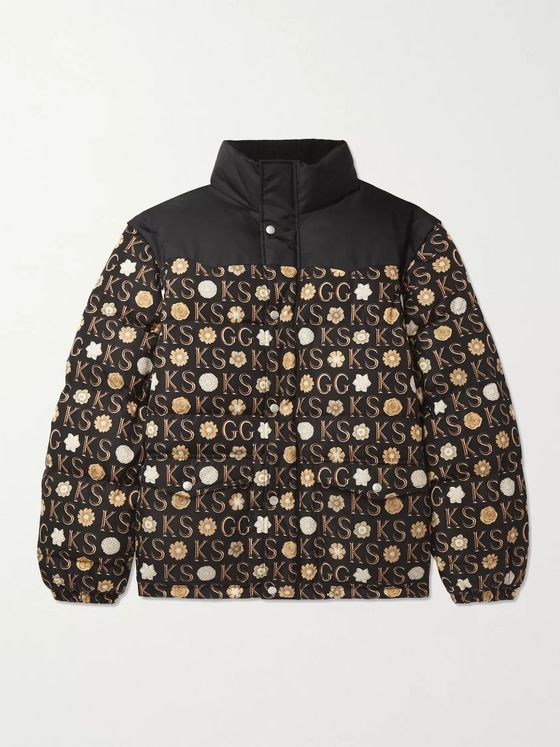 GUCCI + Ken Scott Convertible Logo-Print Padded Shell Down Jacket