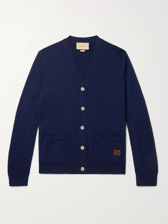 GUCCI Logo-Embroidered Cashmere Cardigan