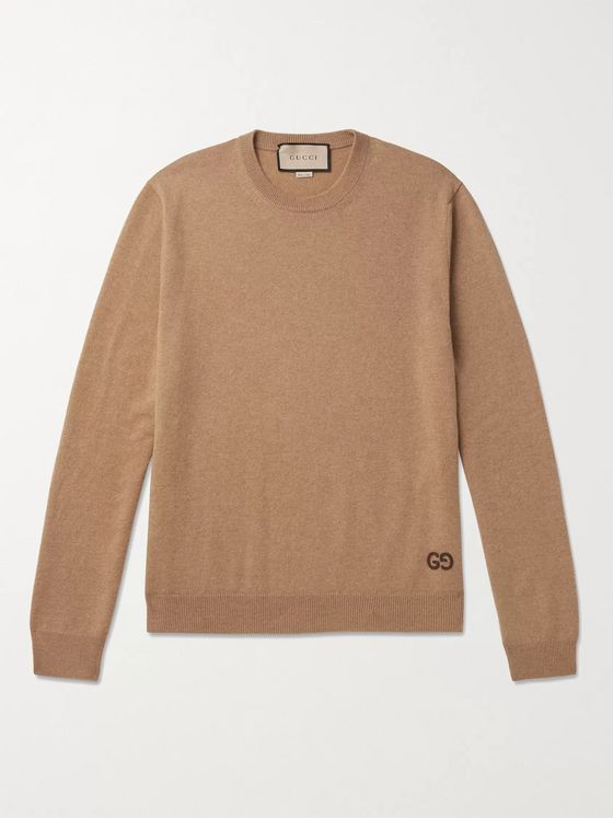 GUCCI Logo-Embroidered Cashmere Sweater