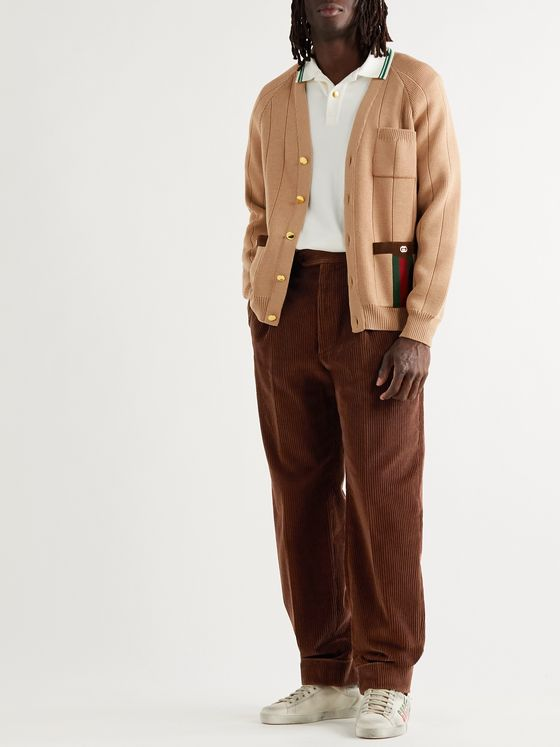 GUCCI Pleated Cotton-Corduroy Trousers