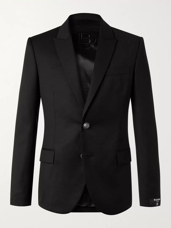 BALMAIN Slim-Fit Wool Blazer