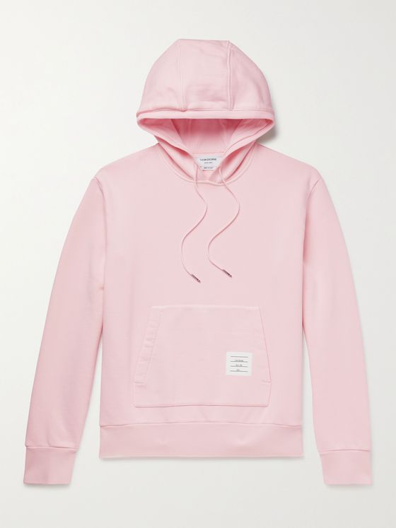 THOM BROWNE Garment-Dyed Loopback Cotton-Jersey Hoodie