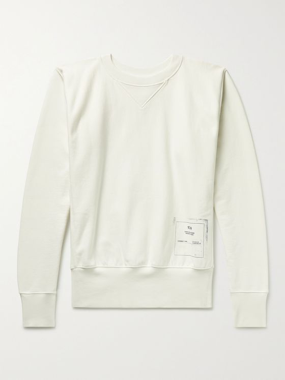 MAISON MARGIELA 1Con Printed Loopback Cotton-Jersey Sweatshirt