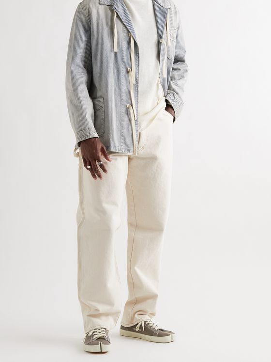 MAISON MARGIELA Wide-Leg Stone-Washed Denim Jeans