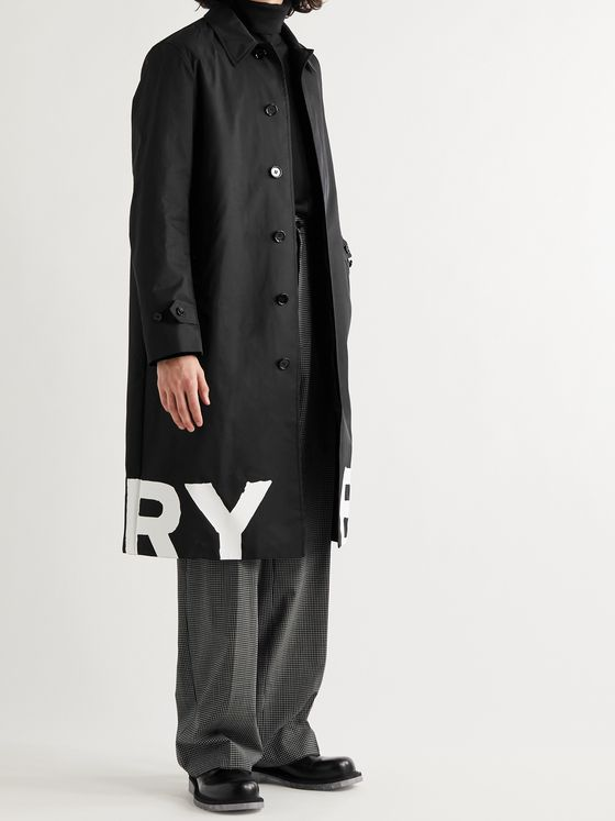 BURBERRY Logo-Print Nylon Coat