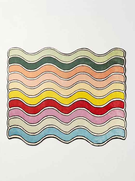 Pieces Wavy Patterned Rug, 8' x 10'