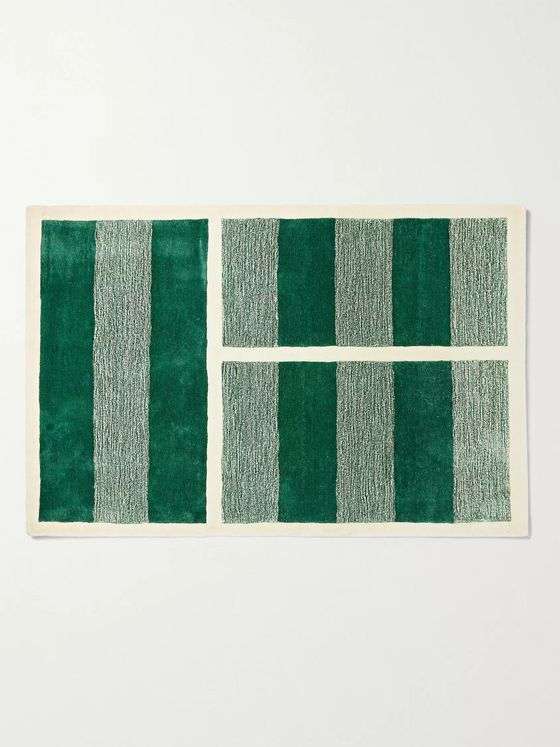 Pieces Grass Court Striped Rug, 6' x 9'